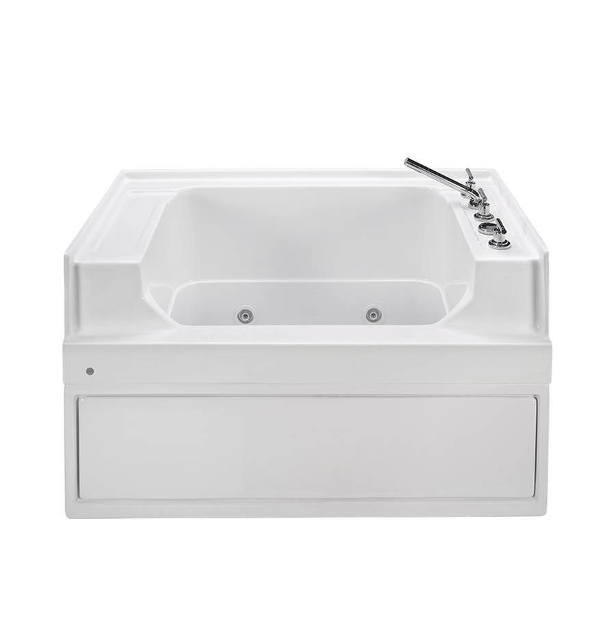 MTI Baths Three Wall Alcove Whirlpool Bathtubs item PET300WPC-WH