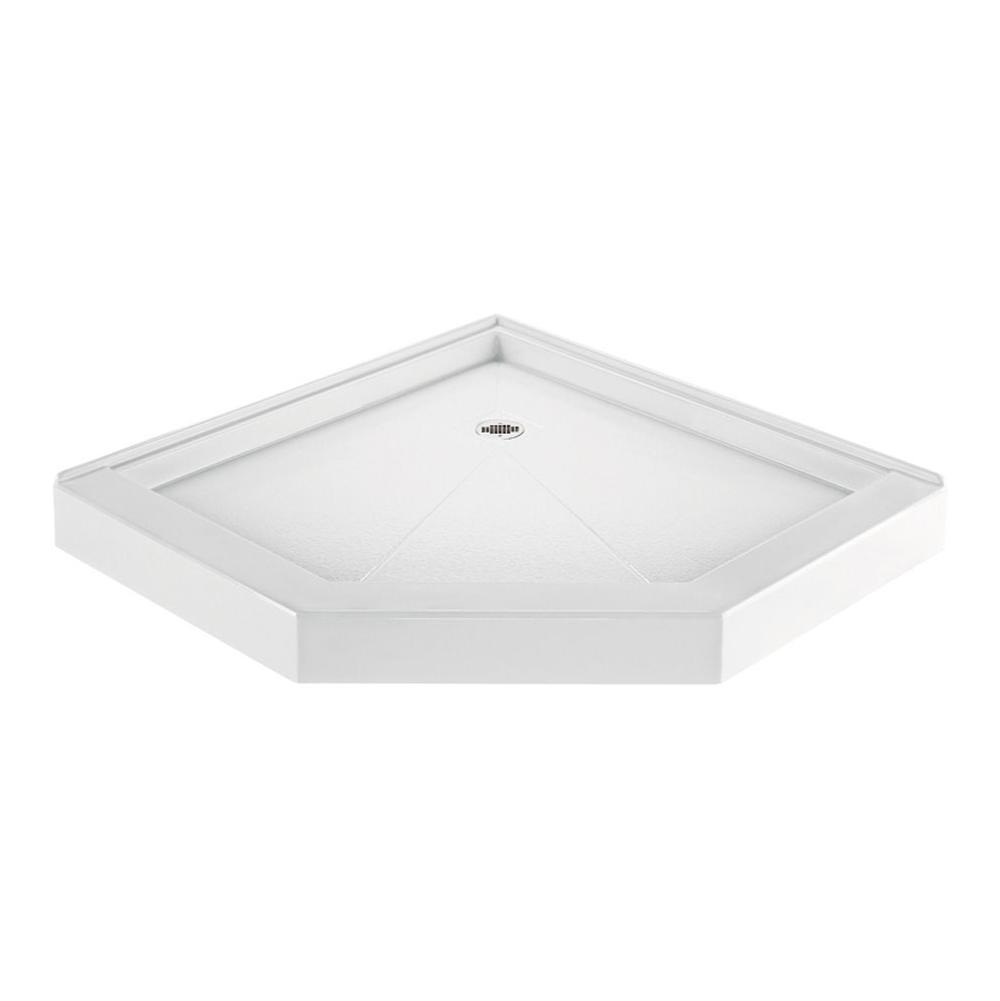 MTI Baths Corner Mount Shower Bases item SB48NA-WH