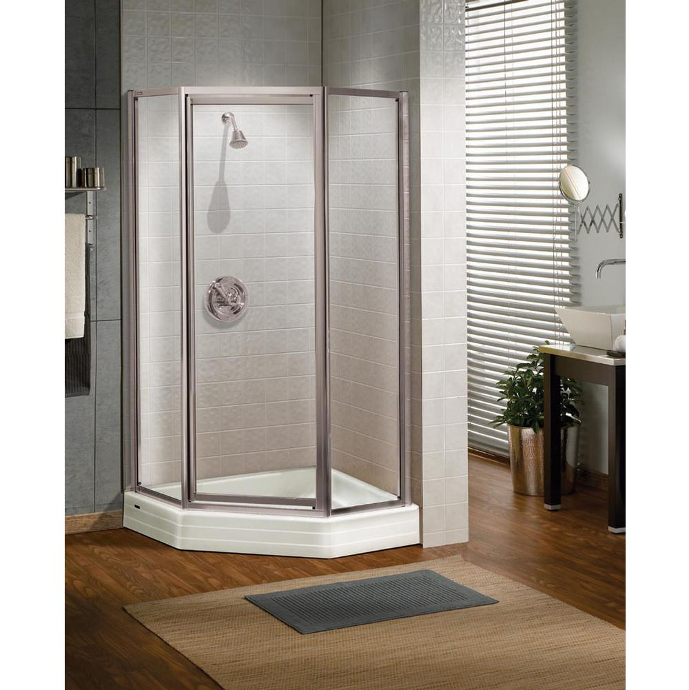 Shower door Shower Doors Neo Angle White | Kitchens and Baths by ...
