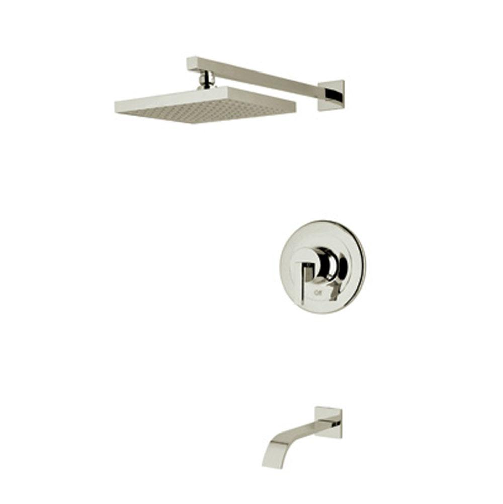 Rohl  Tub And Shower Faucets item WAVEKIT31L-STN