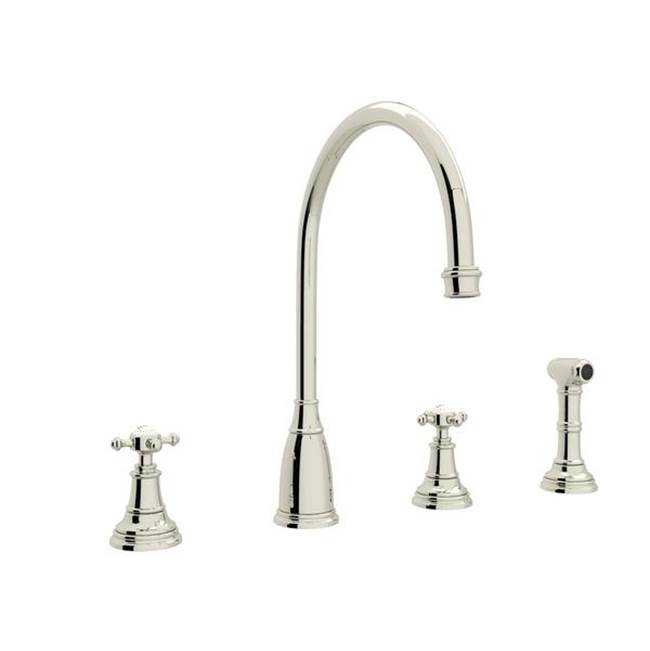 Rohl Deck Mount Kitchen Faucets item U.4735X-PN-2