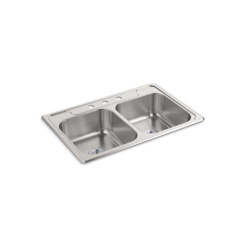 Sterling Plumbing Drop In Kitchen Sinks item F14707-3-NA