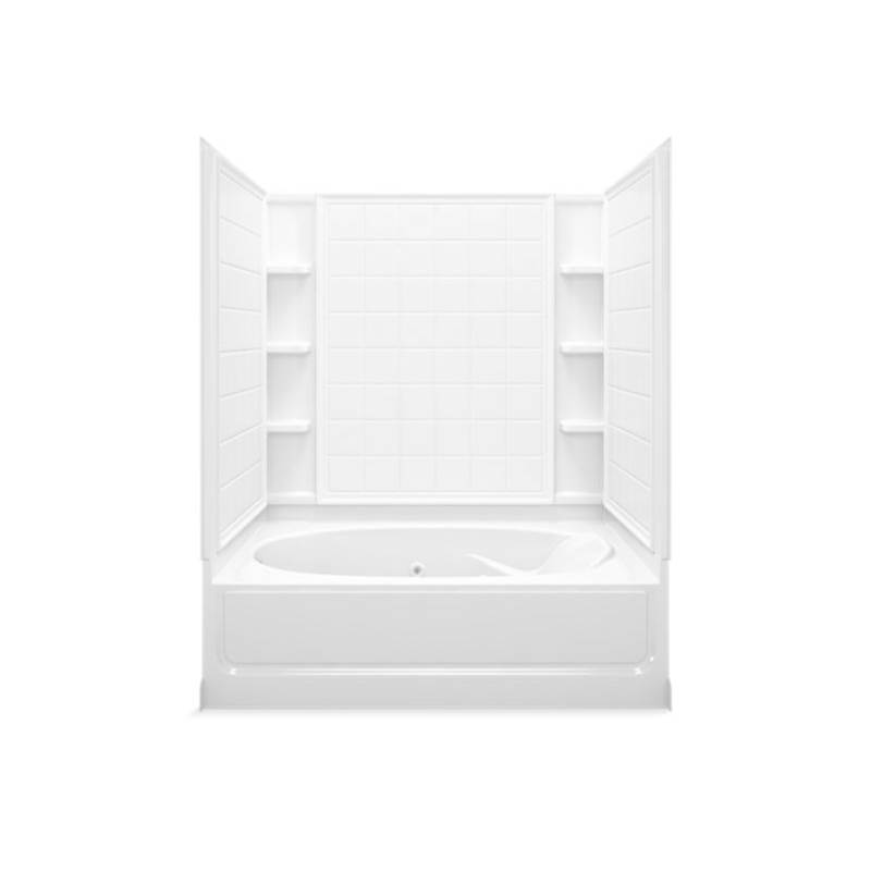 Sterling Plumbing Three Wall Alcove Whirlpool Bathtubs item 76110110-0