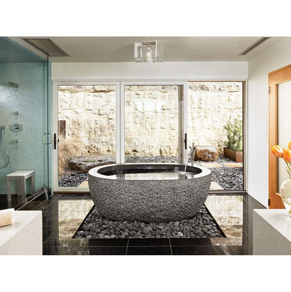 Stone forest tubs soaking tubs kitchens and baths by for Forest bathroom ideas