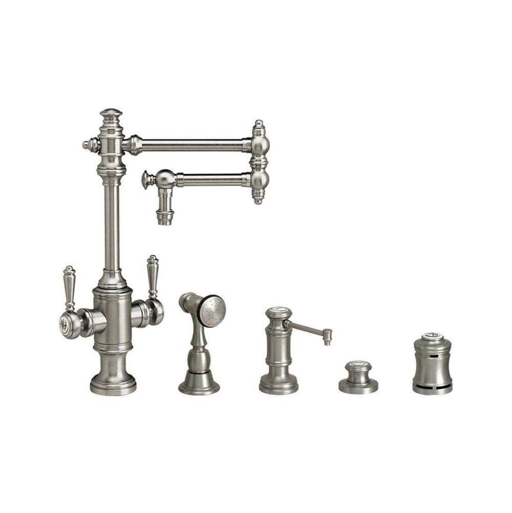 Waterstone Single Hole Kitchen Faucets item 8010-12-4-PN